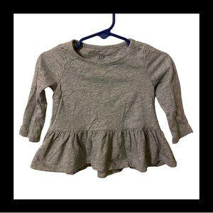 6-12m Baby Gap Gray Long Sleeve Shirt
